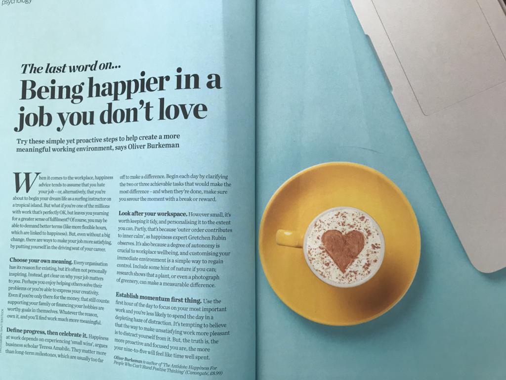 Jak być bardziej zadowolonym w pracy, która nie jest pasją?